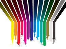 радуга краски капли Стоковая Фотография RF