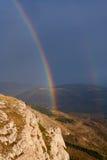 Радуга над горами Крым. Стоковая Фотография RF