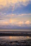 Радуга над заливом ежевичника Стоковые Изображения