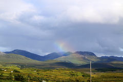 Радуга над Connemara стоковое изображение