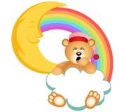 Радуга облака плюшевого медвежонка сонная Стоковая Фотография