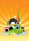 радуга острова Стоковое Изображение