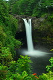 Радуга падает на большой остров Гаваи Стоковое Фото