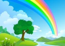 радуга страны Стоковая Фотография
