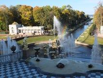 Радуга фонтана Стоковые Фото