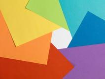 Радуга цвета бумажная Взгляд сверху Апертура любит Стоковое Фото
