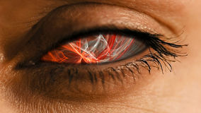 Радужка глаза с абстрактным нервным пылевым узором Стоковая Фотография