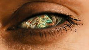 Радужка глаза с абстрактным нервным пылевым узором Стоковые Фото