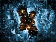 Рвать космическое время Стоковые Изображения RF