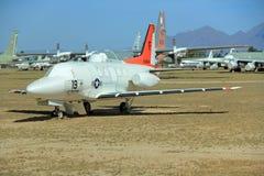 Реактивные самолеты в воздухе Pima и музее космоса Стоковые Фото