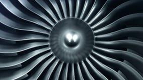 реактивный двигатель перевода 3D, лезвия реактивного двигателя взгляда конца-вверх анимация 4K видеоматериал
