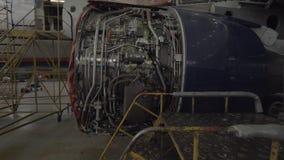 Реактивный двигатель проходя ремонты видеоматериал