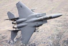 Реактивный истребитель военновоздушной силы США F15 Стоковое фото RF