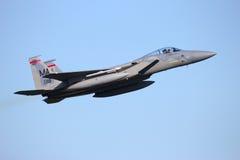 Реактивный истребитель военновоздушной силы США F-15 Стоковая Фотография RF