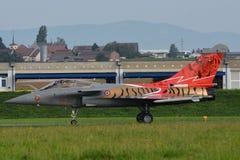 Реактивный истребитель Дассо Rafale c 142/113-GU Стоковое фото RF