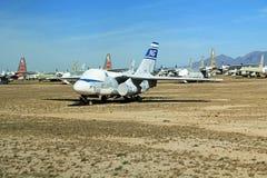 Реактивный самолет Top Cat в воздухе Pima и музее космоса Стоковая Фотография