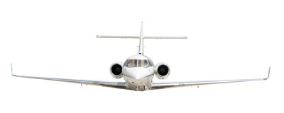 Реактивный самолет авиации общего назначения изолированный на белизне стоковые изображения rf