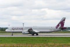 Реактивный самолет аэробуса A321 Стоковое Фото