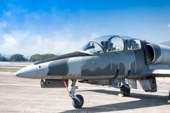 Реактивный самолет истребителя F-16 военно-воздушных сил Великобритании Стоковое фото RF
