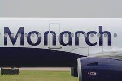 Реактивный самолет монарха Стоковые Изображения