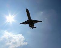 Реактивный самолет принимая  Стоковое Фото