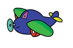 Реактивный самолет шаржа Стоковая Фотография RF