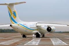 Реактивный самолет Antonov An-148 региональный Стоковое фото RF