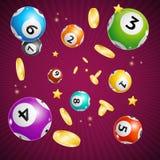Реалистическая детальная предпосылка карточки концепции шарика Lotto 3d вектор Стоковая Фотография