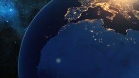 Реалистическая земля планеты от космоса Стоковые Изображения RF