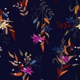 Реалистическая изолированная безшовная картина цветка комплект сбора винограда Wallpap бесплатная иллюстрация
