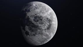 Реалистическая луна в космическом пространстве Высокая детальная текстура 3d представляют 4K иллюстрация штока