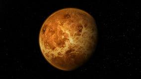 Реалистическая планета Венера от глубокого космоса Предпосылка Loopable бесплатная иллюстрация