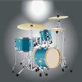 Реалистическая предпосылка 2 набора барабанчика Стоковое фото RF