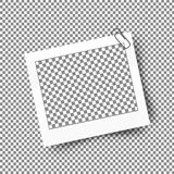 Реалистическая рамка фото с зажимом Дизайн фото шаблона Стоковые Изображения