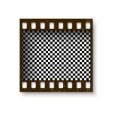 Реалистическая ретро рамка 35 mm filmstrip при тень изолированная на белой предпосылке Прозрачный отрицательный кадр также вектор Стоковые Фото