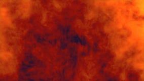 Реалистическая слойка дыма заполняет экран в замедленном движении Взрыв изолированный красным цветом иллюстрация штока