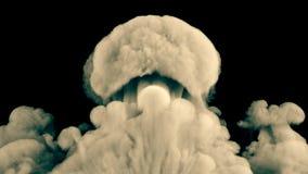 Реалистическая слойка дыма Ярким взрыв изолированный желтым цветом бесплатная иллюстрация
