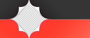 Реалистические бумажные углы изолированные на прозрачной предпосылке Стоковое Изображение