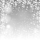 Реалистические падая снежинки Стоковое Фото