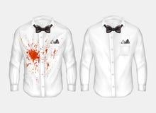 реалистические рубашки перед и после мыть иллюстрация штока