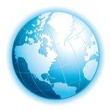 Реалистический глобус 3d Значок экологичности, перемещения, обмена или взаимодействия Стоковое Фото