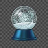 Реалистический детальный глобус снега 3d вектор Стоковое Изображение RF
