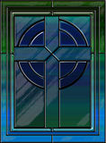 Реалистический крест цветного стекла Стоковое Изображение RF