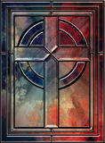 Реалистический крест цветного стекла Стоковая Фотография RF