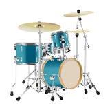 Реалистический набор барабанчика Стоковое фото RF