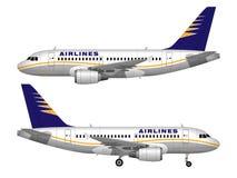Реалистический самолет пассажира Стоковое Фото