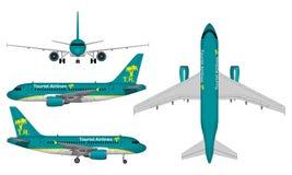 Реалистический самолет пассажира Стоковая Фотография RF