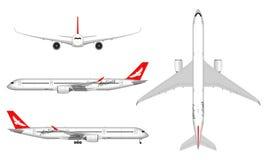 Реалистический самолет пассажира Стоковая Фотография