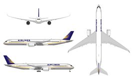Реалистический самолет пассажира Стоковые Фото