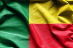 Реалистический флаг Бенина стоковая фотография rf